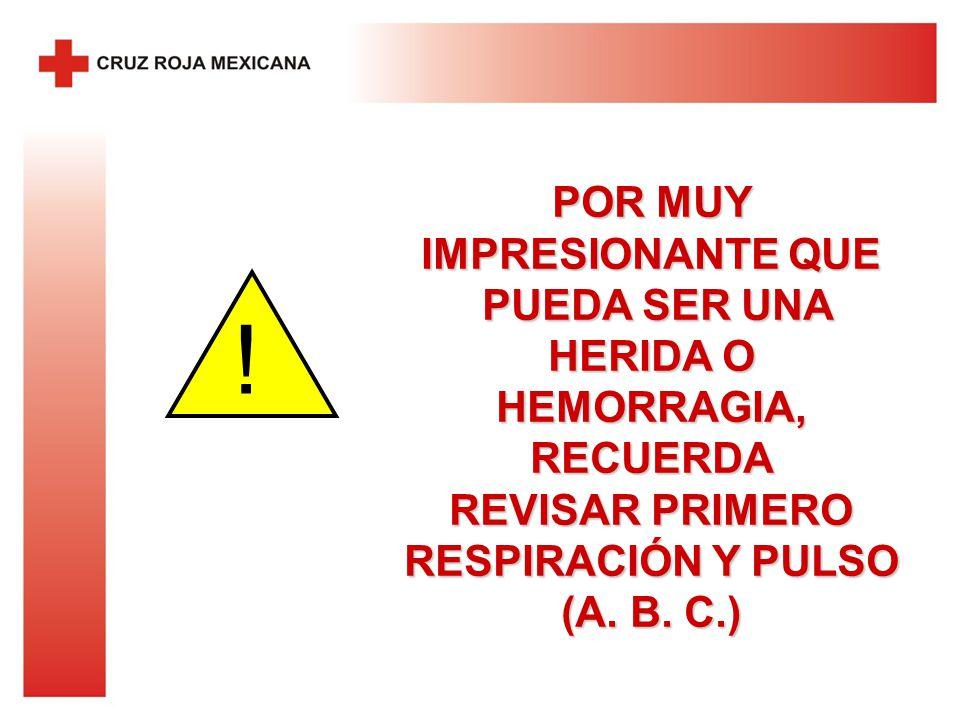 POR MUY IMPRESIONANTE QUE RESPIRACIÓN Y PULSO (A. B. C.)