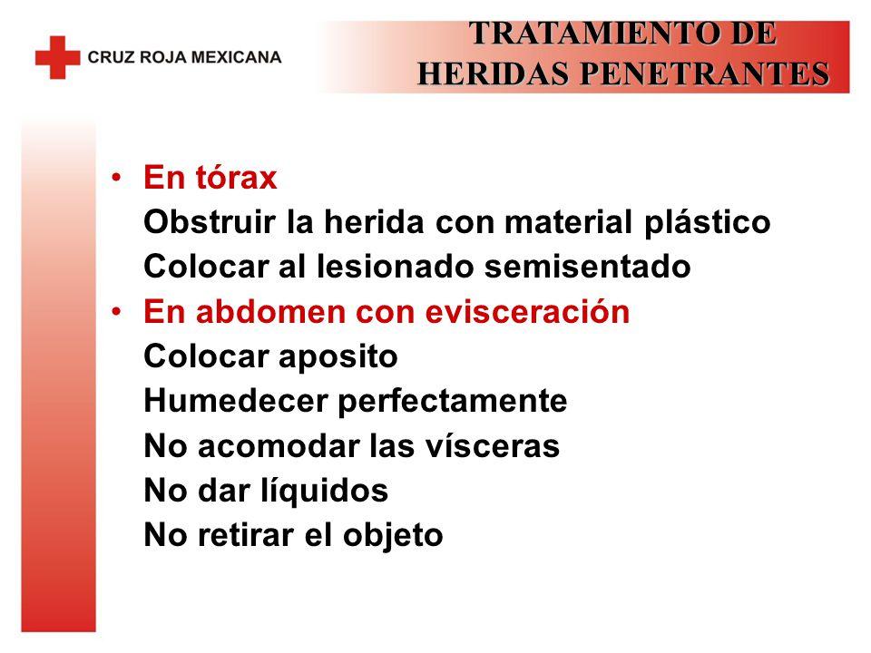 TRATAMIENTO DE HERIDAS PENETRANTES
