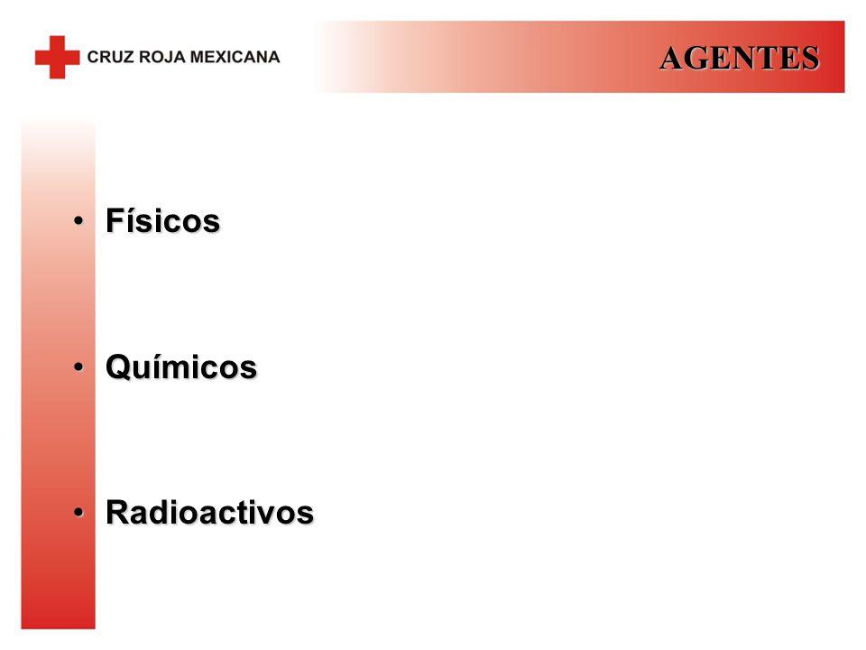 AGENTES Físicos Químicos Radioactivos