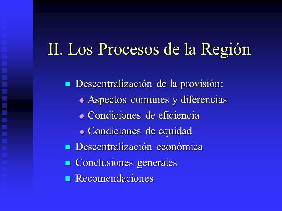 II. Los Procesos de la Región