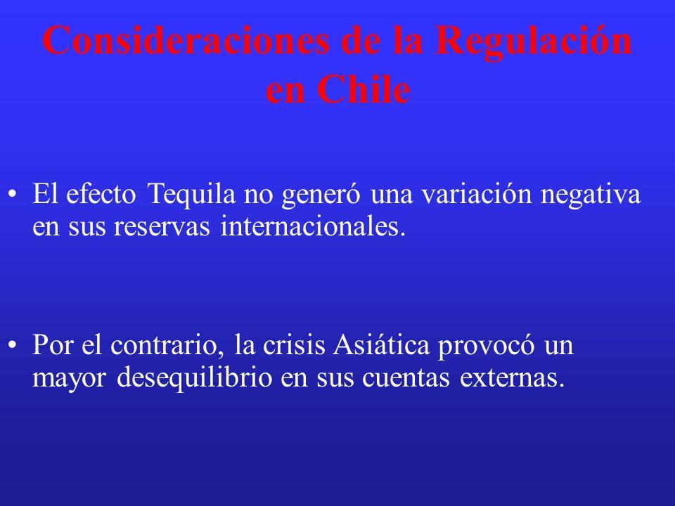 Consideraciones de la Regulación en Chile