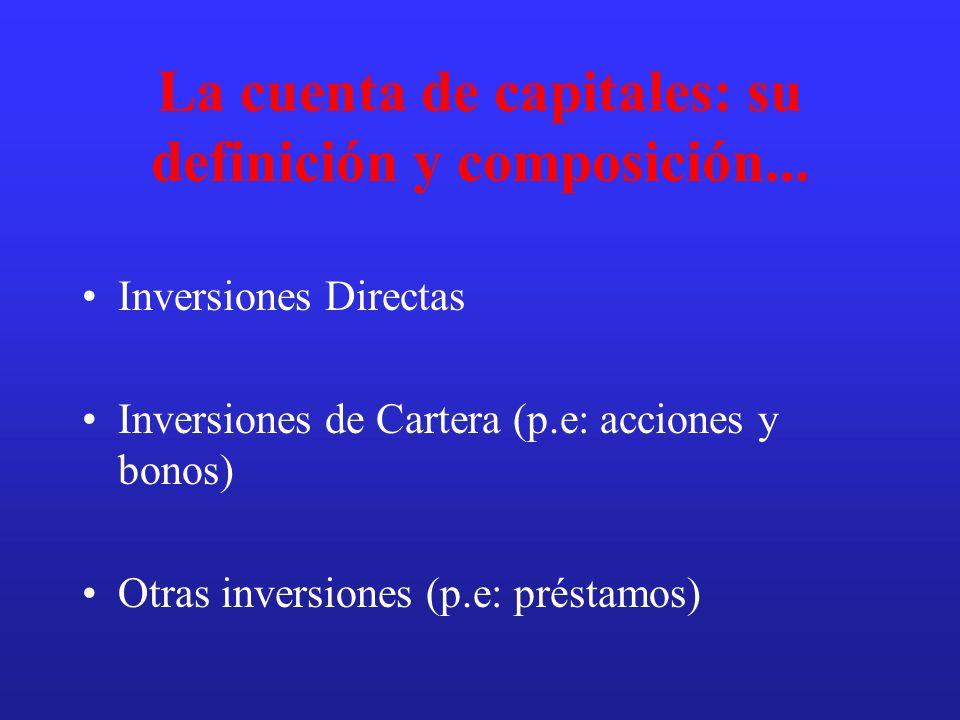 La cuenta de capitales: su definición y composición...