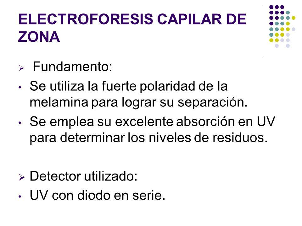 Electroforesis capilar de zona