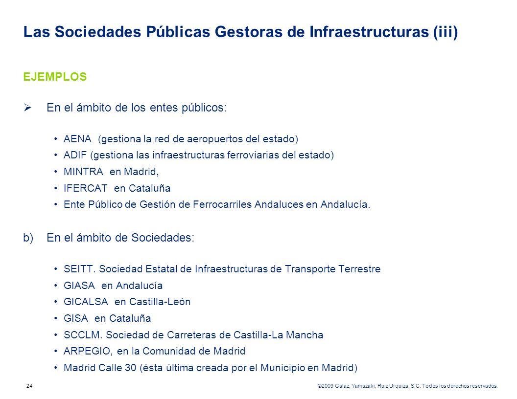 Las Sociedades Públicas Gestoras de Infraestructuras (iii)