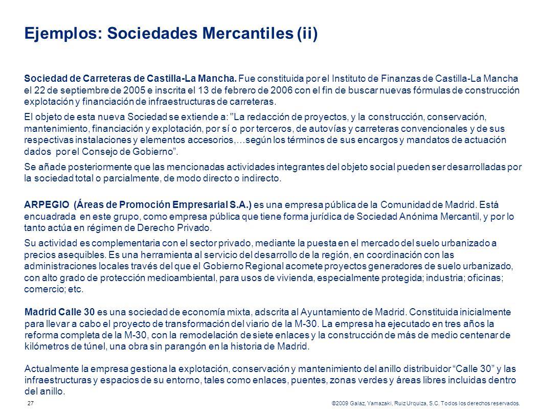 Ejemplos: Sociedades Mercantiles (ii)