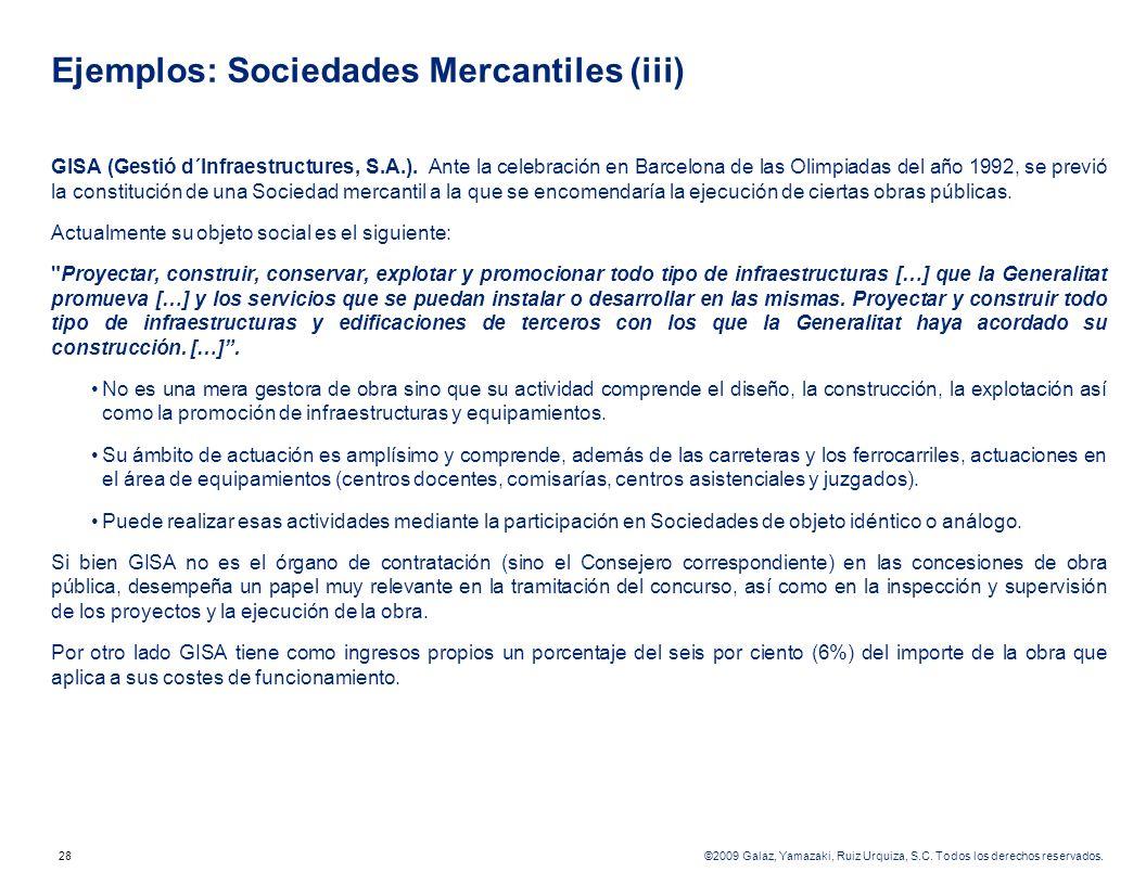 Ejemplos: Sociedades Mercantiles (iii)