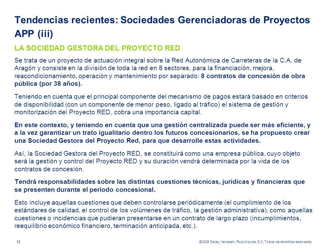 Tendencias recientes: Sociedades Gerenciadoras de Proyectos APP (iii)