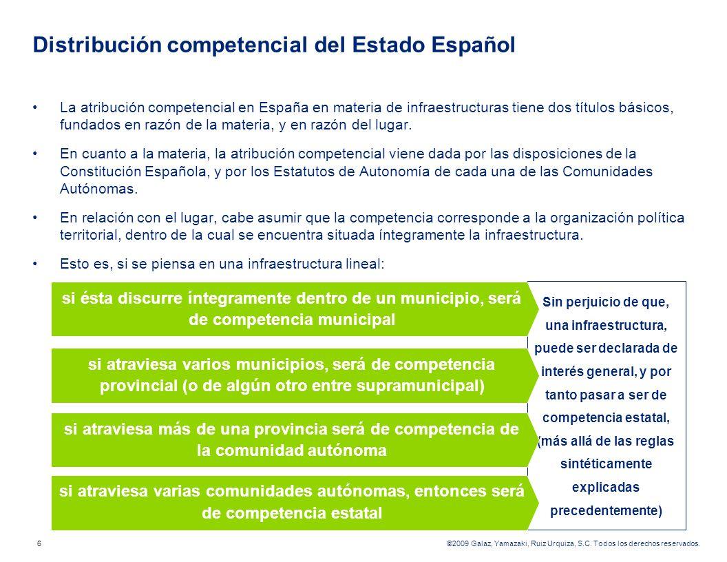 Distribución competencial del Estado Español