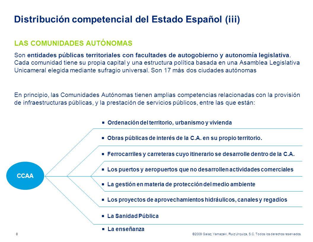 Distribución competencial del Estado Español (iii)