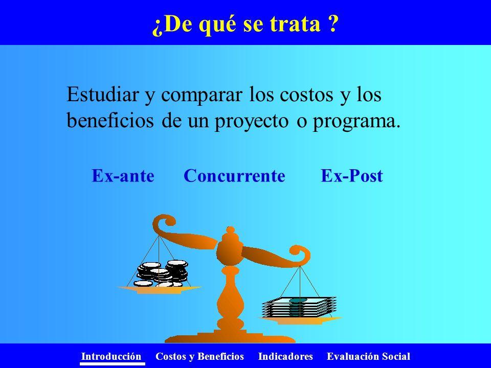 Ex-ante Concurrente Ex-Post