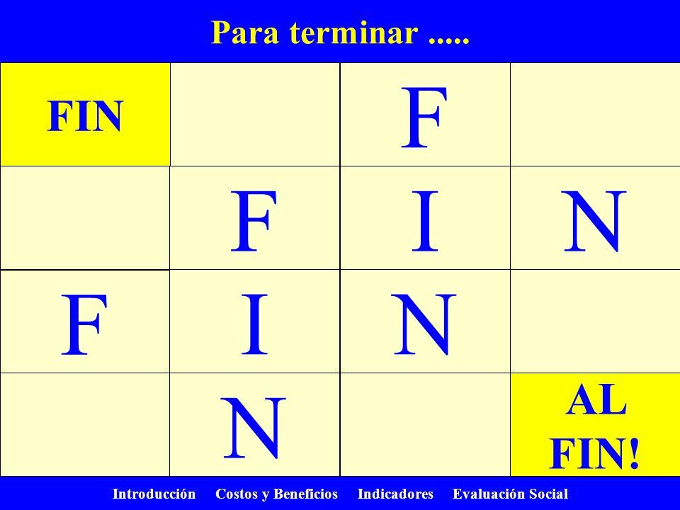 F F I N F I N N FIN AL FIN! Para terminar .....