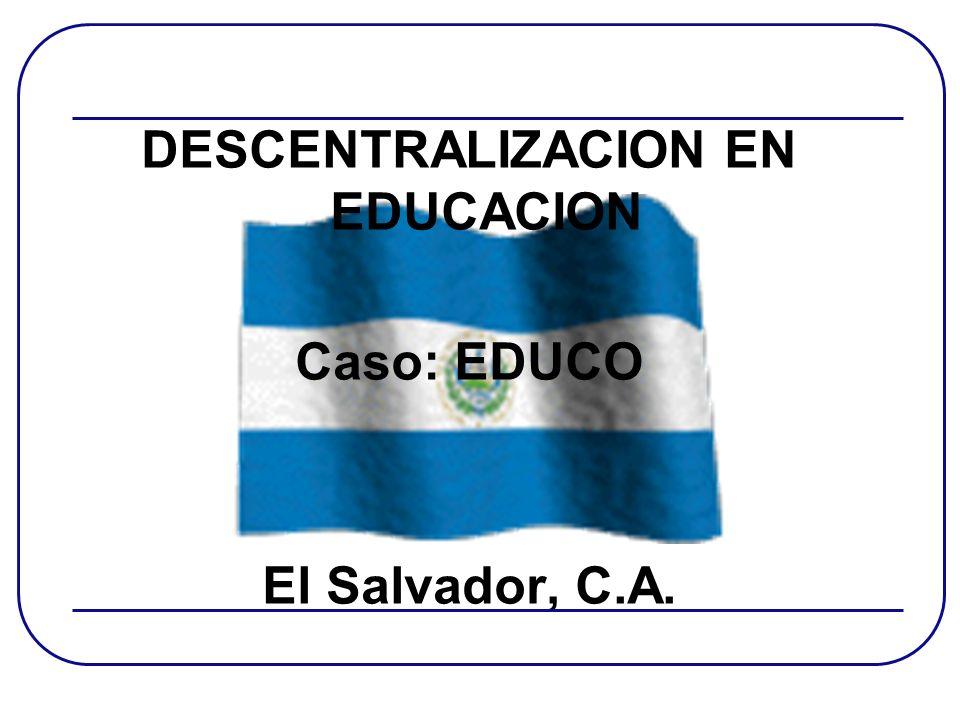 DESCENTRALIZACION EN EDUCACION