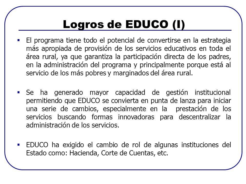 Logros de EDUCO (I)