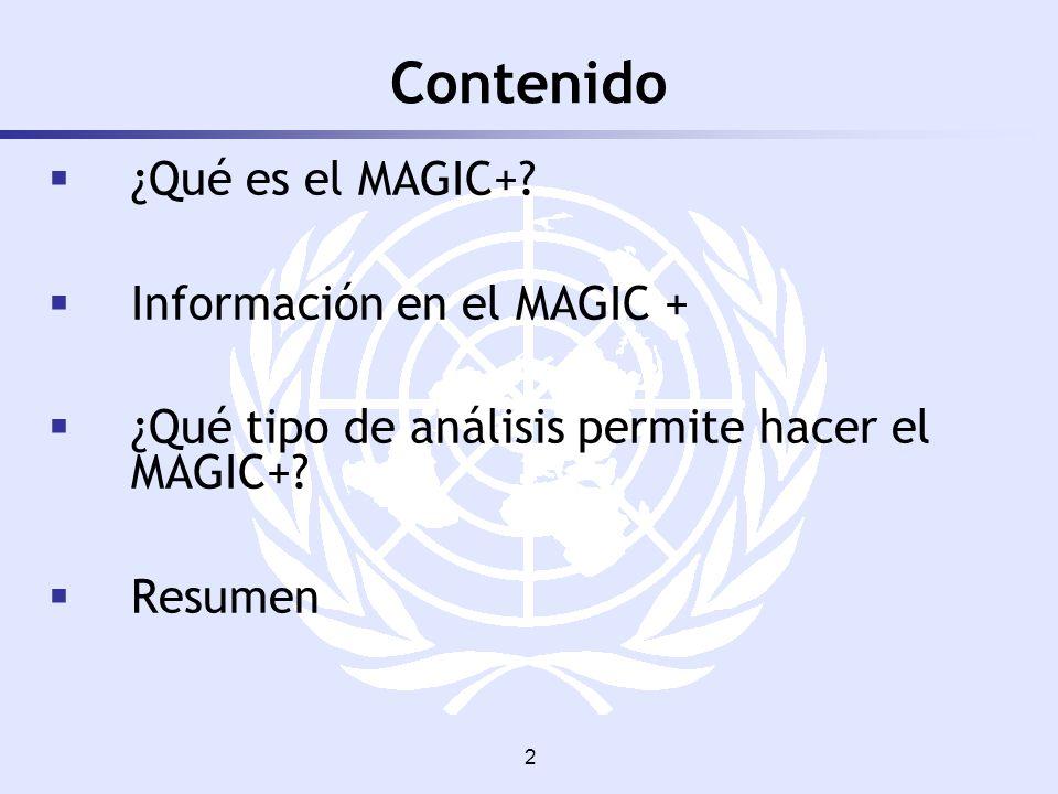 Contenido ¿Qué es el MAGIC+ Información en el MAGIC +