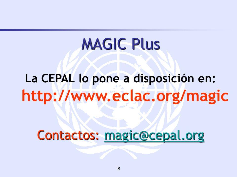 La CEPAL lo pone a disposición en: http://www.eclac.org/magic