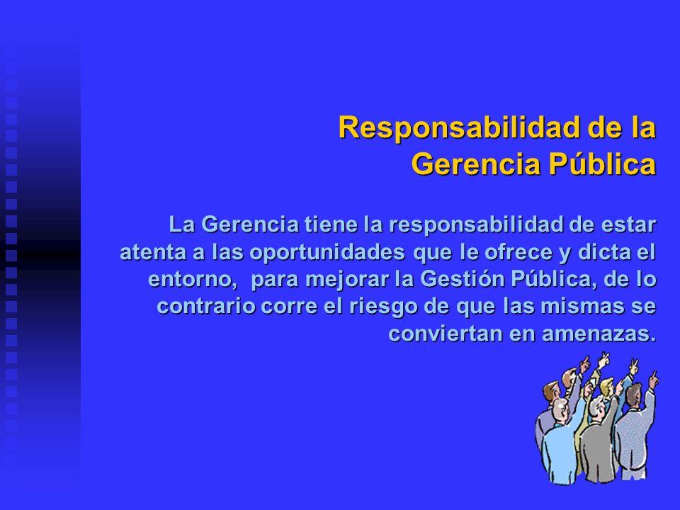 Responsabilidad de la Gerencia Pública
