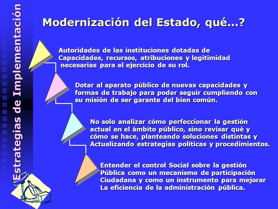Modernización del Estado, qué...