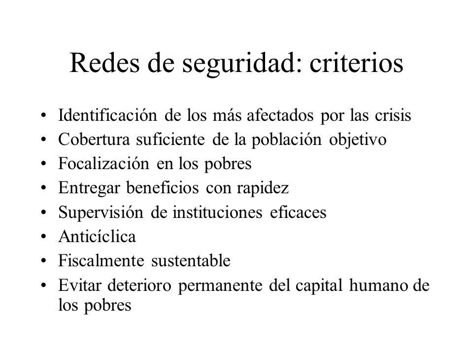 Redes de seguridad: criterios