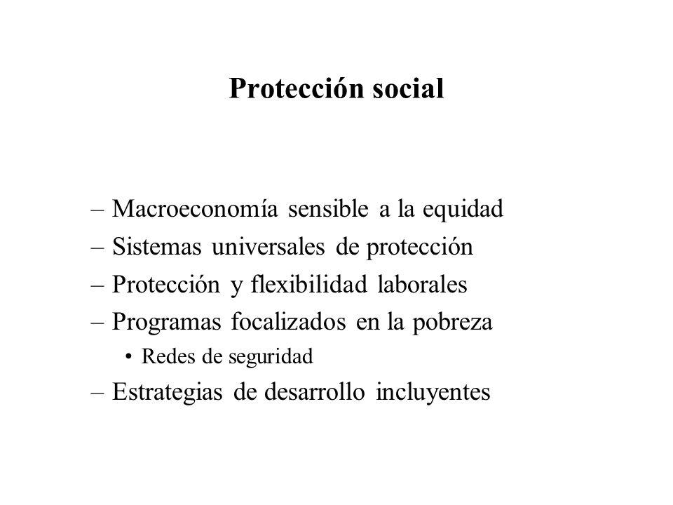 Protección social Macroeconomía sensible a la equidad