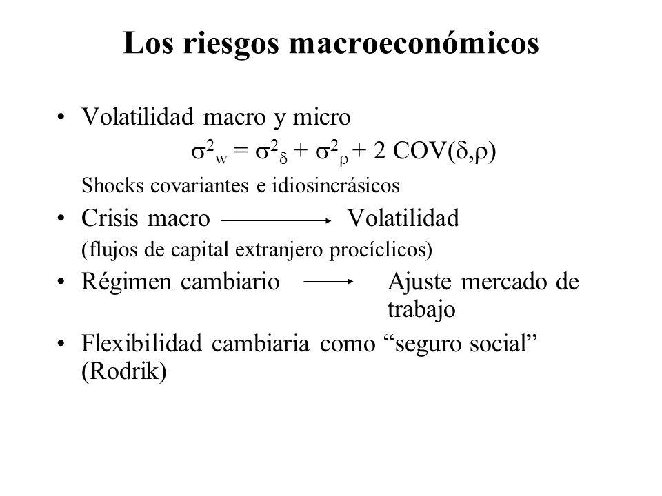 Los riesgos macroeconómicos