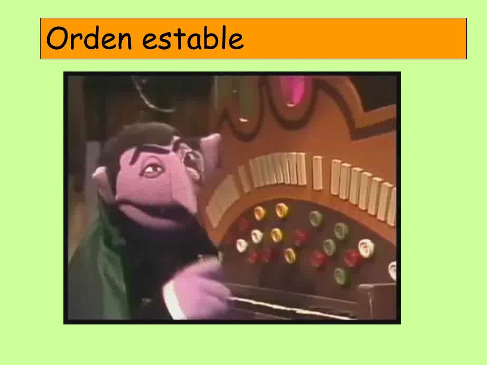 Orden estable