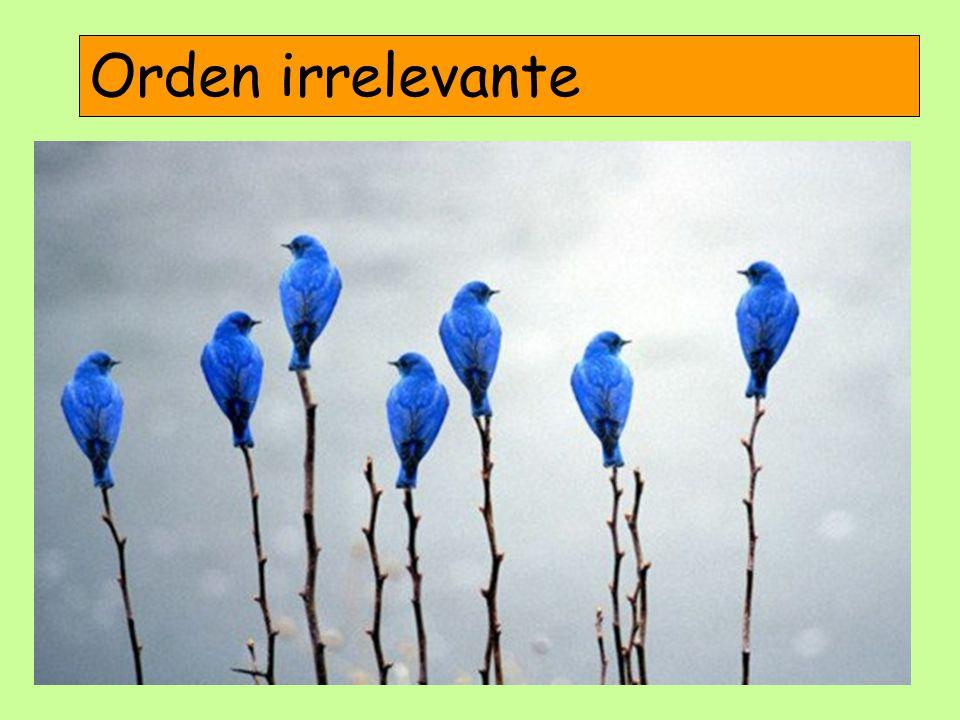 Orden irrelevante
