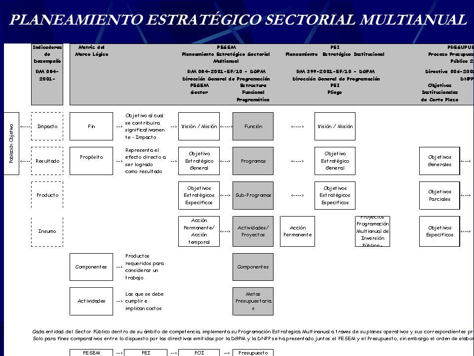 PLANEAMIENTO ESTRATÉGICO SECTORIAL MULTIANUAL