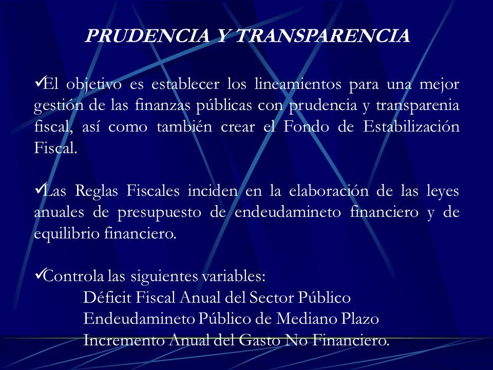 PRUDENCIA Y TRANSPARENCIA