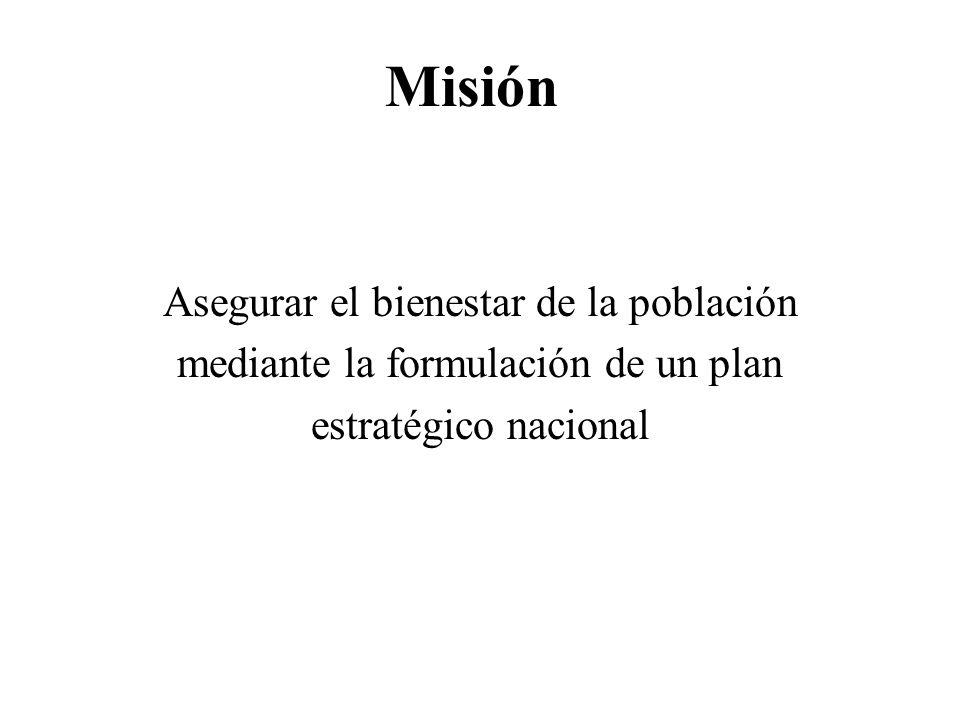 Misión Asegurar el bienestar de la población