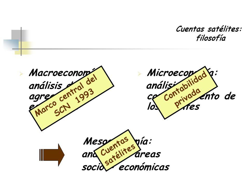 análisis de los agregados económicos Microeconomía: