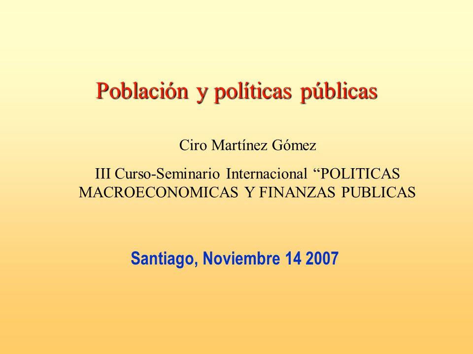 Población y políticas públicas