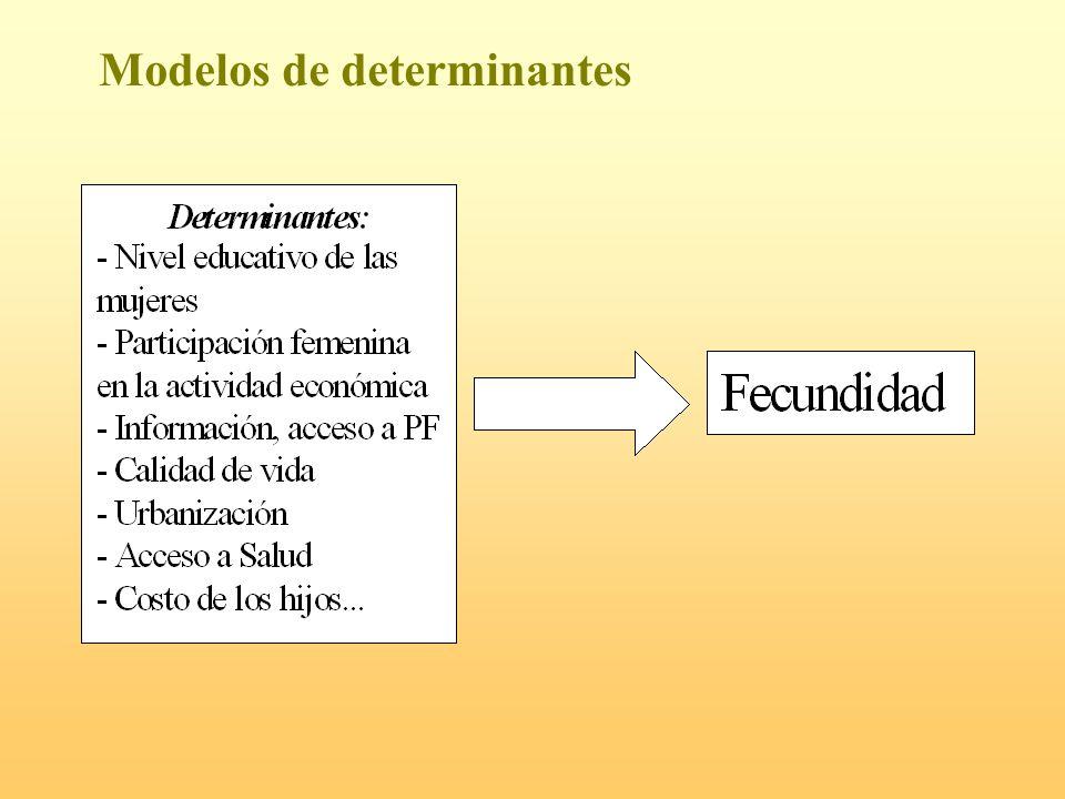 Modelos de determinantes
