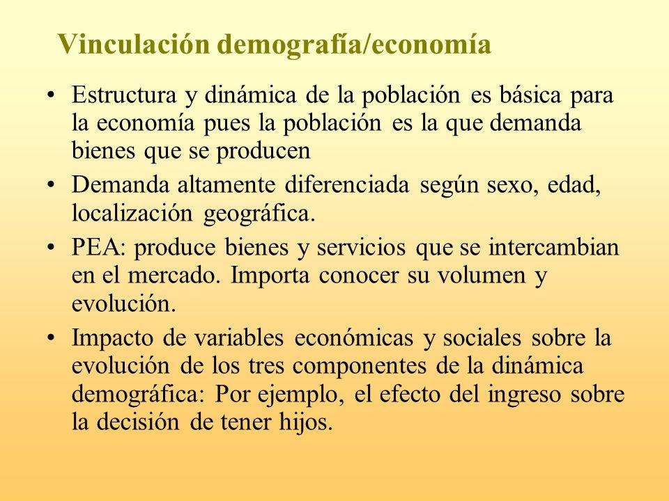 Vinculación demografía/economía