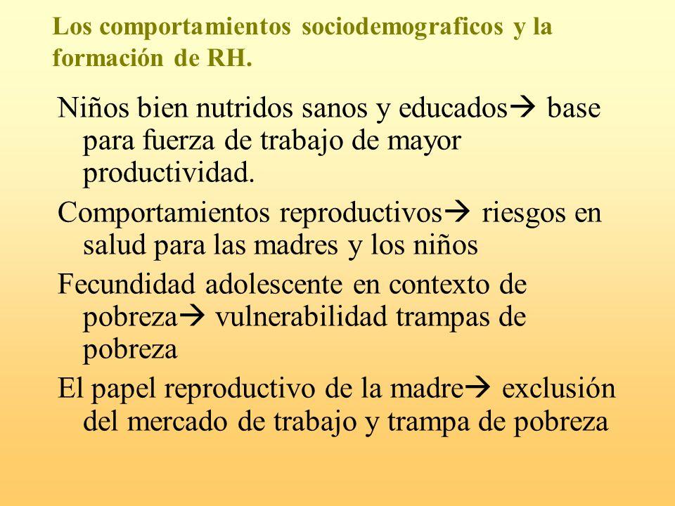 Los comportamientos sociodemograficos y la formación de RH.
