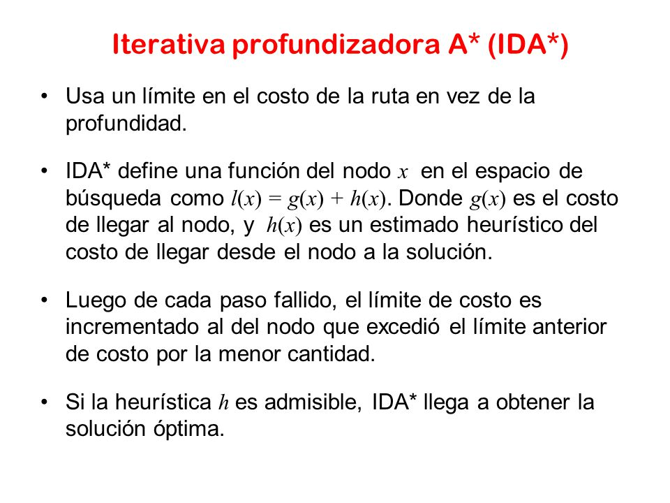 Iterativa profundizadora A* (IDA*)
