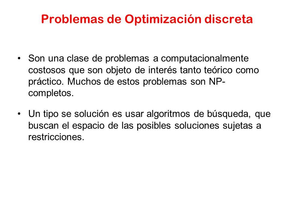 Problemas de Optimización discreta