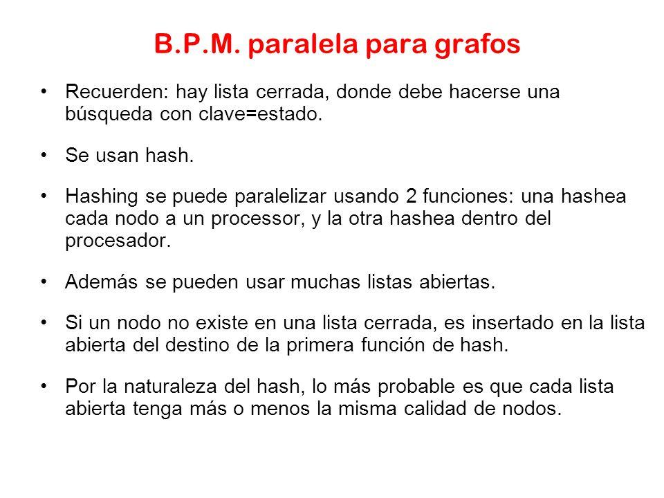 B.P.M. paralela para grafos