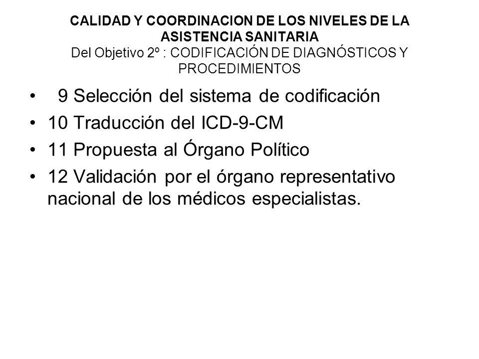 9 Selección del sistema de codificación 10 Traducción del ICD-9-CM