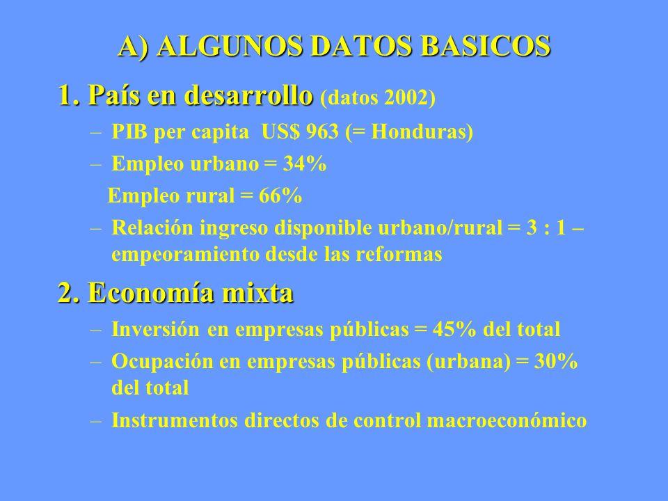 A) ALGUNOS DATOS BASICOS