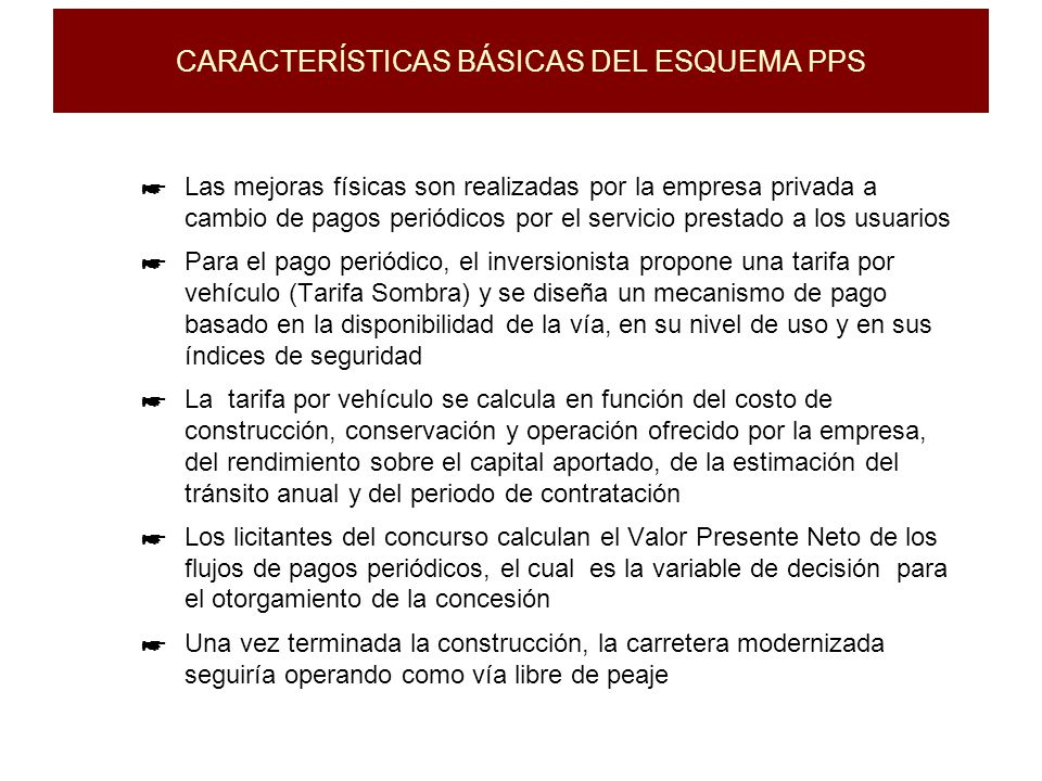CARACTERÍSTICAS BÁSICAS DEL ESQUEMA PPS
