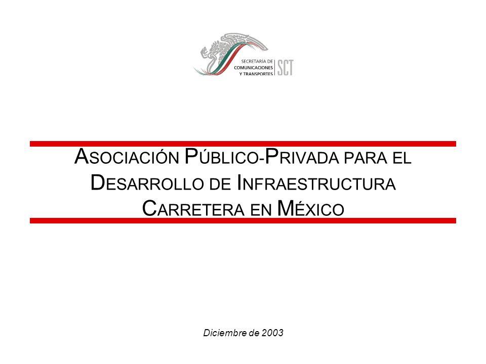 ASOCIACIÓN PÚBLICO-PRIVADA PARA EL DESARROLLO DE INFRAESTRUCTURA CARRETERA EN MÉXICO