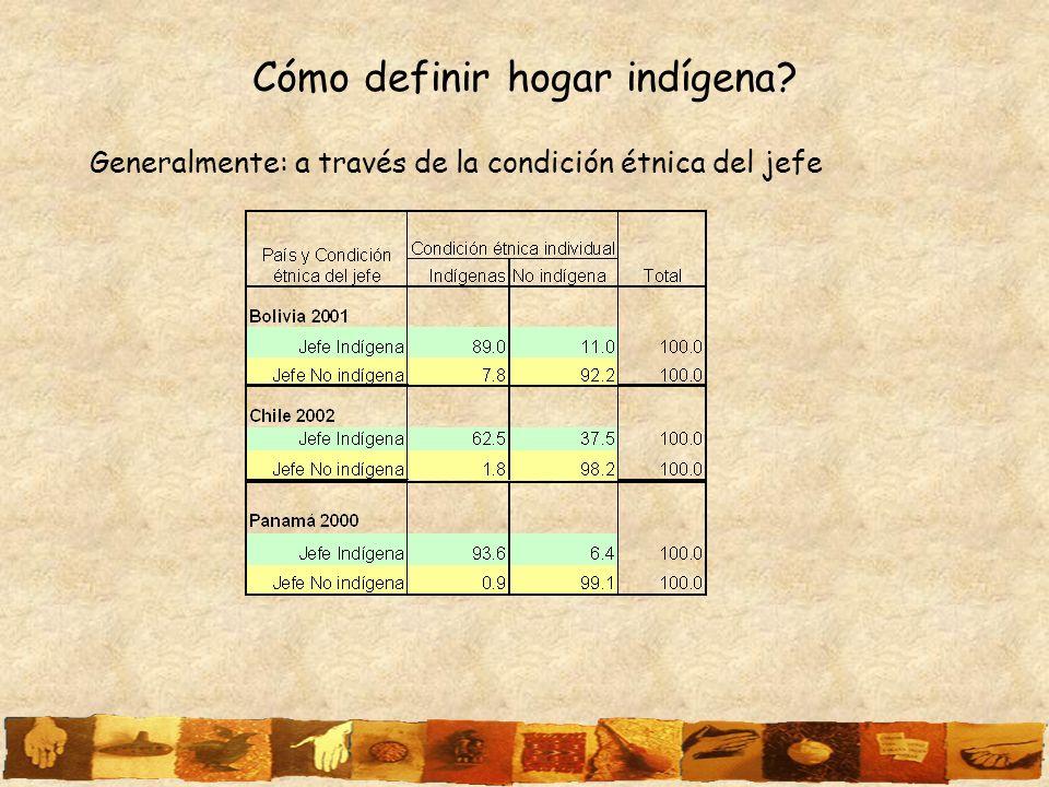 Cómo definir hogar indígena