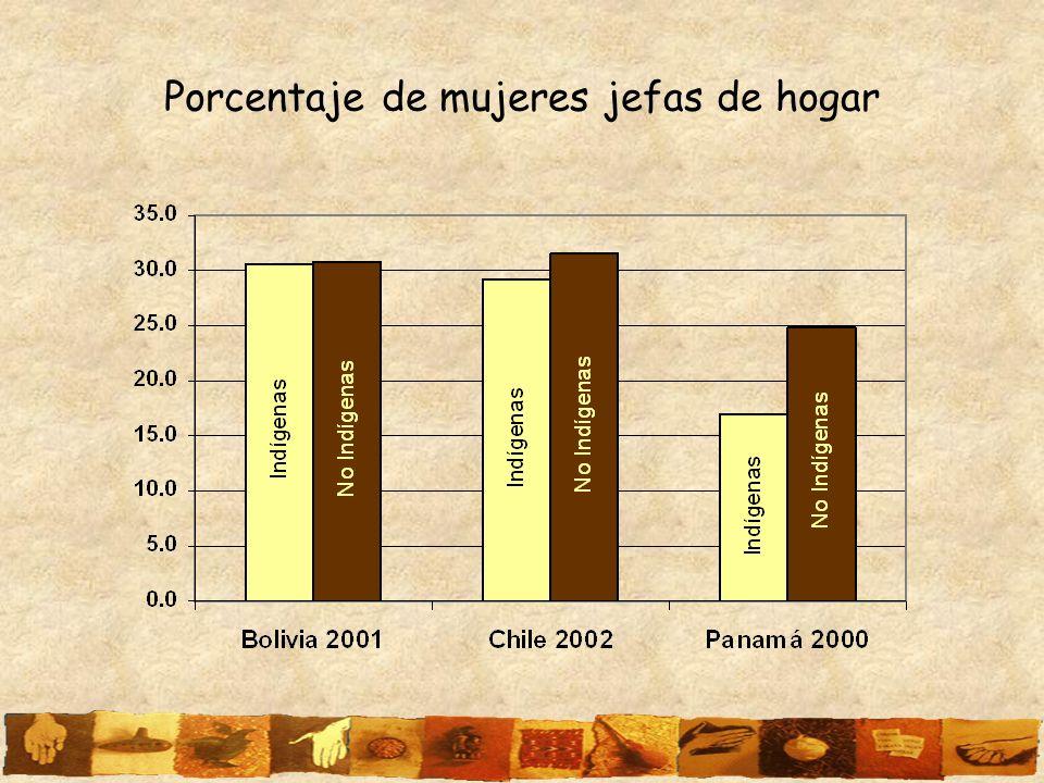 Porcentaje de mujeres jefas de hogar