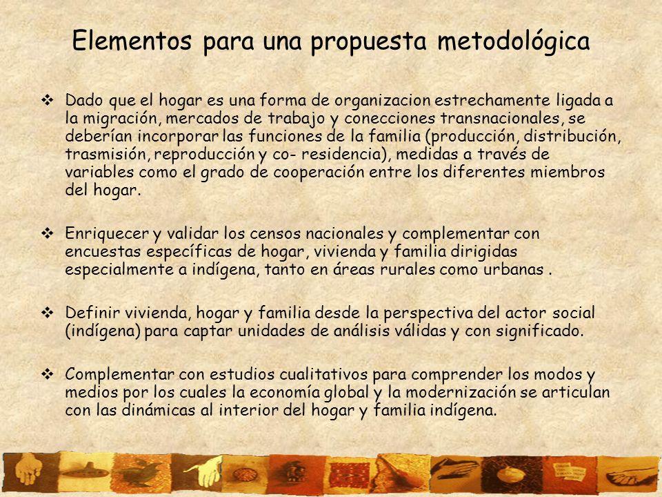 Elementos para una propuesta metodológica