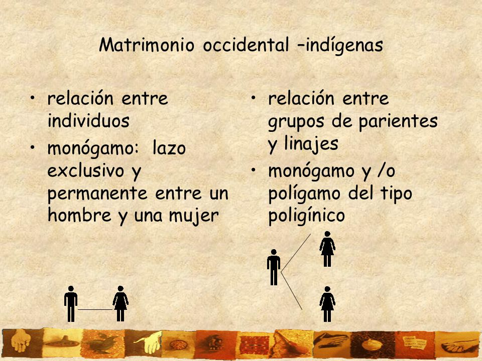 Matrimonio occidental –indígenas