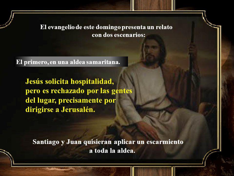 Jesús solicita hospitalidad,