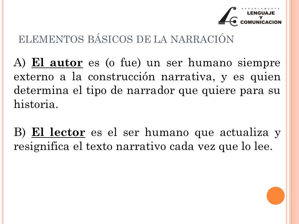 ELEMENTOS BÁSICOS DE LA NARRACIÓN