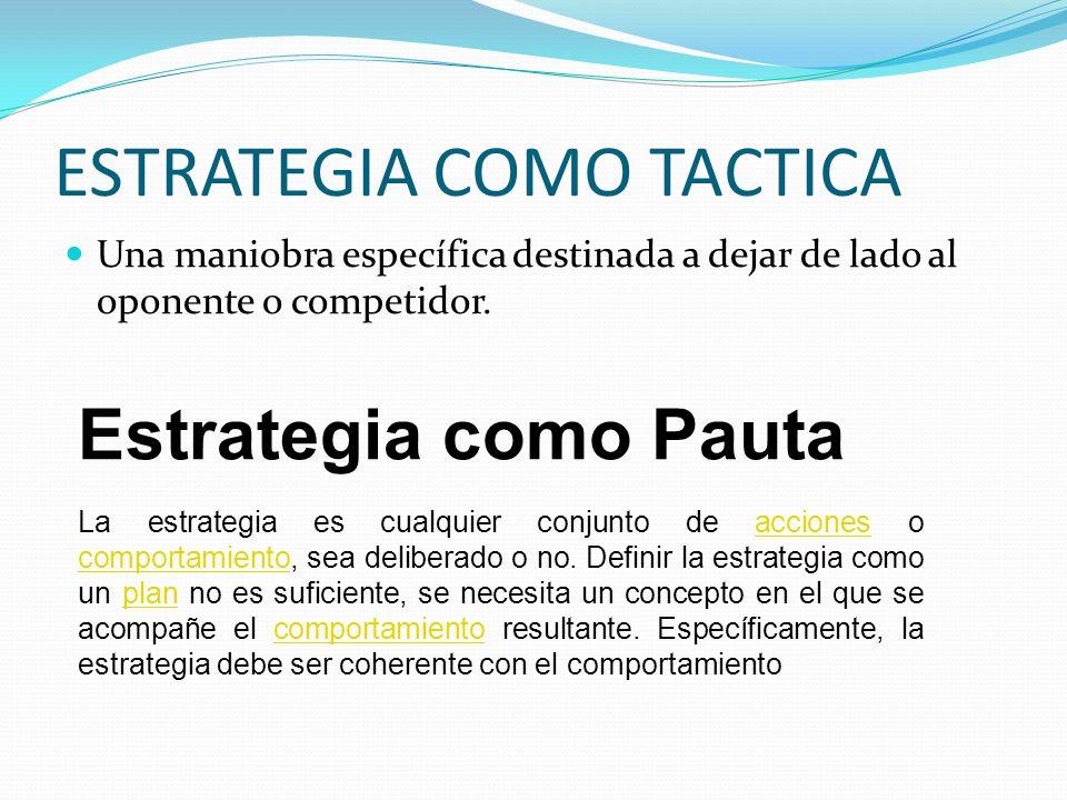 ESTRATEGIA COMO TACTICA