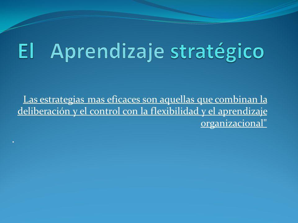 El Aprendizaje stratégico