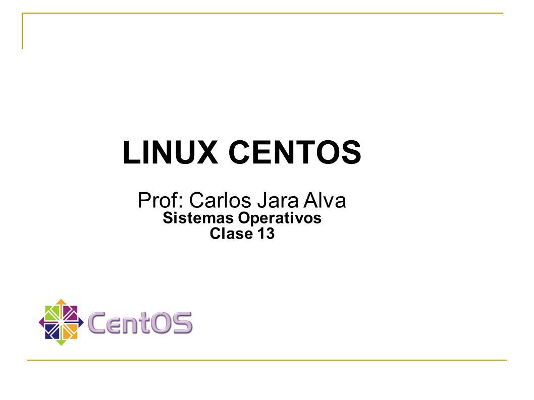 LINUX CENTOS LINUX CENTOS Prof: Carlos Jara Alva